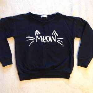 "Elsa ""Meow"" Black Sweatshirt"