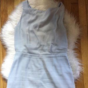 Burberry powder blue shift dress, size 12