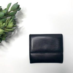 AUTH 💗 LOUIS VUITTON Black Epi Leather Wallet