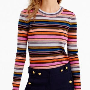 J. Crew Rainbow Striped sweater in merino wool