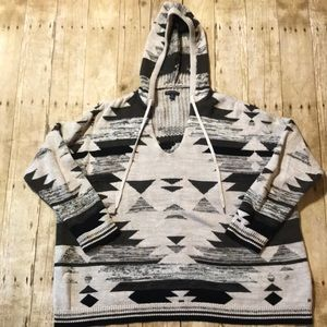 American Eagle Aztec Nice Hooded Sweater XL