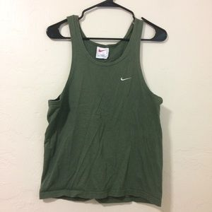 Dark Green Nike Workout Tank