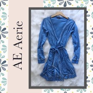 American Eagle AERIE Polka Dot Bath Robe