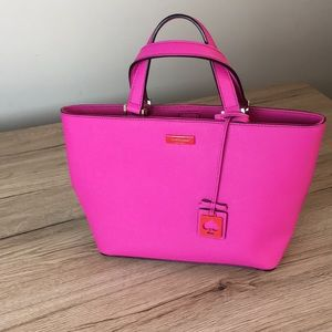 Kate spade pvc pink mini handbag