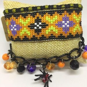 Beaded macrame multilayered bracelet