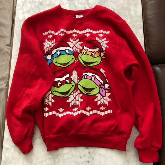 ninja turtles christmas sweater new