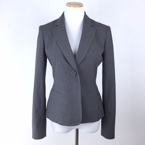 Anne Klein Womens Single-Button 3-Pocket Blazer