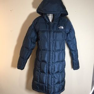 North face parka blue BROKEN Zipper