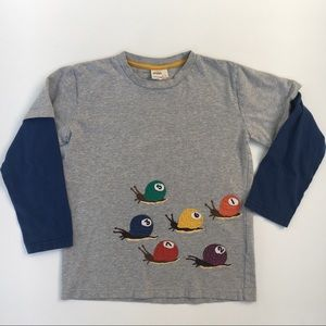 Mini Boden long-sleeve snails tee t-shirt boy 7-8