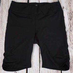 Gaiam Shorts Size Large Athletic Compression Black