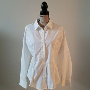 Women's button down long sleeve dress shirt