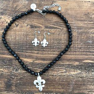 ⚜️ Fleur de lis jewelry set