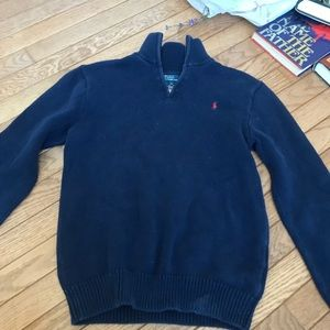 Polo Ralph Lauren quarter zip up - NAVY color
