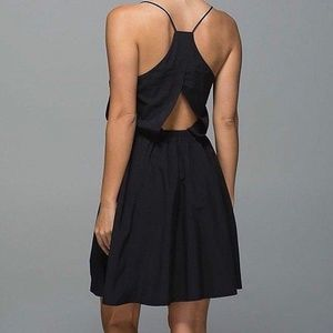 LULULEMON City Summer Dress Solid Black NEW