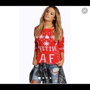 Faith Festive A.F. Christmas Sweater