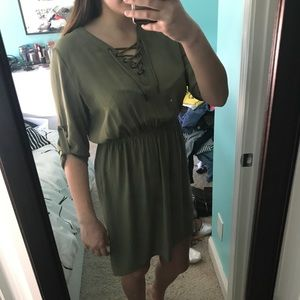 Lace-Up Dress