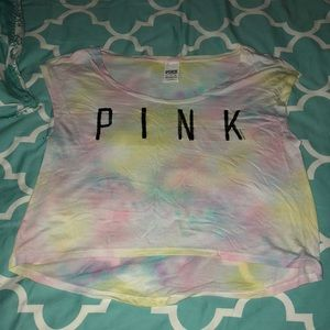 Watercolor PINK crop top