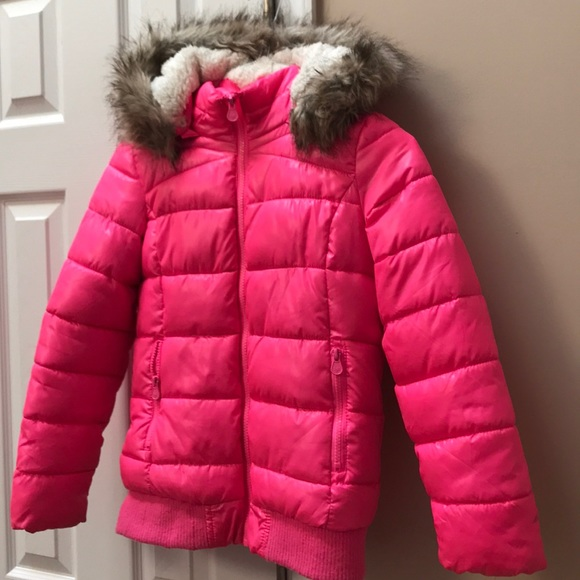 20ba826f1ce01 Justice Other - Girls hot pink Justice Winter Puffer Jacket