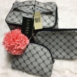 ebbcbd5b0c1e Lauren Ralph Lauren Bags - NWT Lauren Ralph Lauren Logo Makeup Bag Set