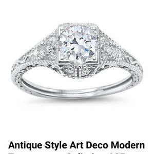 Jewelry - Sterling silver 925 antique style  art deco ring