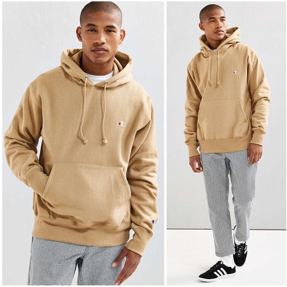 d17949916d5e Champion x UO Logo Reverse Weave Taupe Hoodie