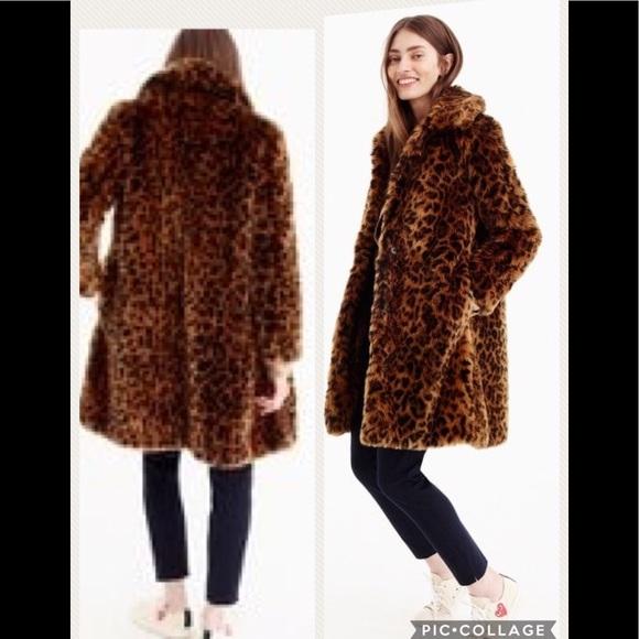 bd113bd355 Pamela McCoy faux leopard fur coat (like J. Crew).  M 5a31814256b2d6d05f019839