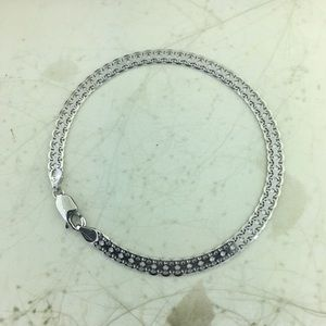 "Jewelry - REAL ➡️18k⬅️ White Gold Ladies 7"" Bizmark Bracelet"