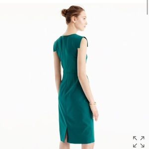 J Crew Dresses New Jcrew Resume Dress Wool Crepe Work Forest Gree