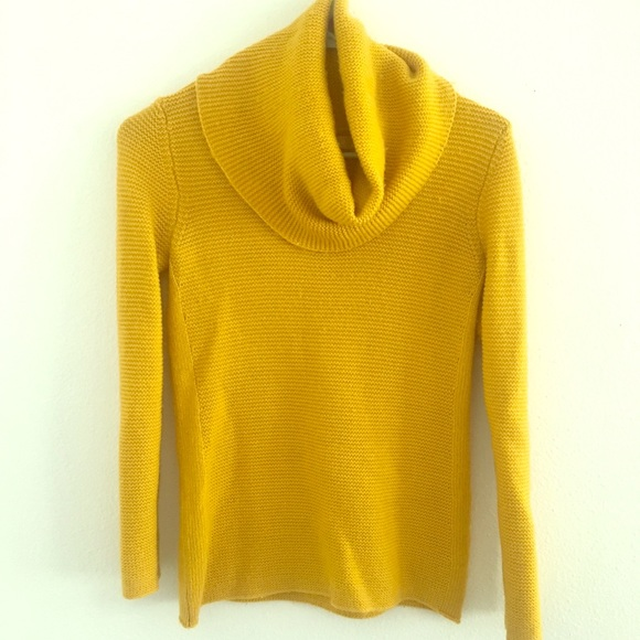 63% off Banana Republic Sweaters - Mustard cowl neck sweater from ...
