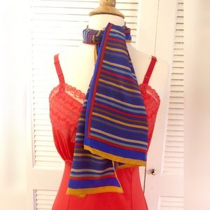 Albert Nipon Vintage Silk Scarf, Oblong, Silk