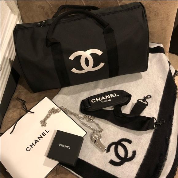 6b28047f8e06 CHANEL Bags | Vip Gift Travel Duffle Weekend Gym Bag | Poshmark