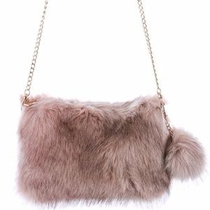 Handbags - Fuzzy Shoulder Bag
