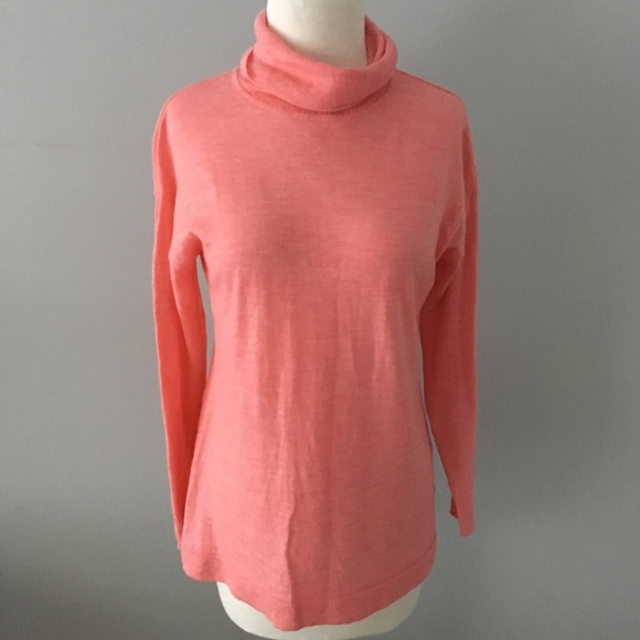 Talbots - Talbots Merino Wool Soft Pink Turtleneck Sweater from ...
