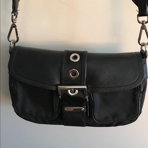 61dac961a14e Prada nylon leather trimmed cross body bag