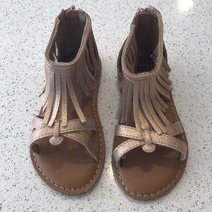 Other - NWOT Gap Fringe Sandals  Gold