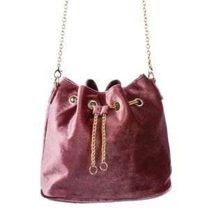 Handbags - Velvet Bucket Bag