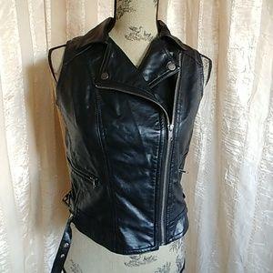 Cotton On Faux Leather Moto Vest