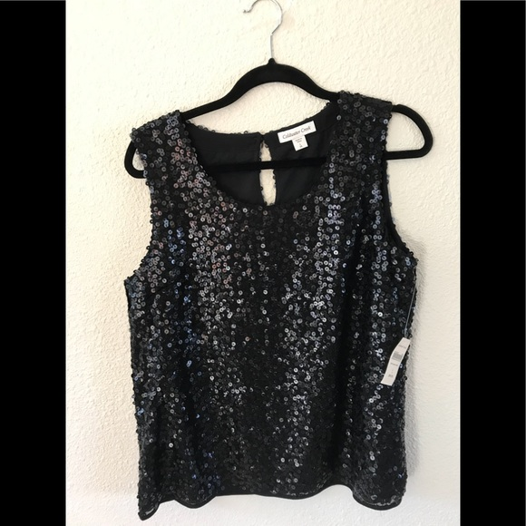 62920b9a00b41c Coldwater Creek L 14 sequin Tank holiday party NWT