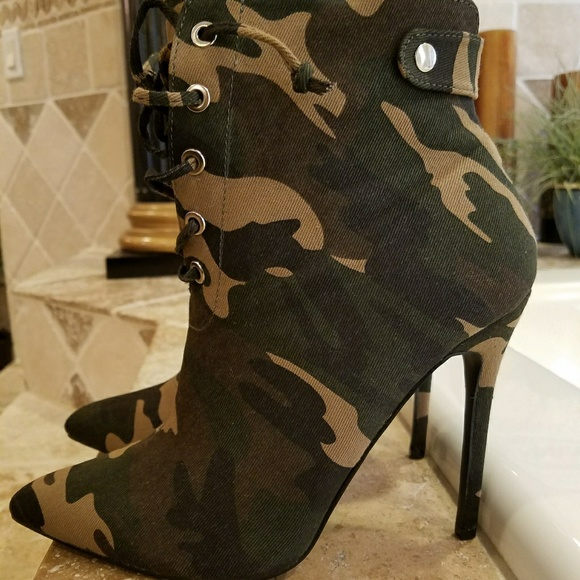 6ef912004922b Shoes | Brand New Camuflauge Ankle Boots | Poshmark