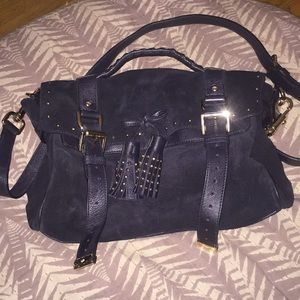 5a407e5792d8 ... new zealand mulberry bags mulberry alexa navy suede with studs 1165b  a69c2 ...