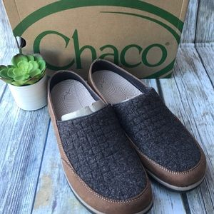 Chaco Quinn Women's slip-on 11 Wool Leather Brown