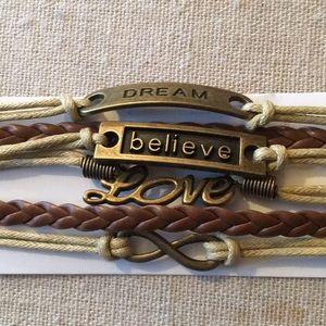 Jewelry - Dream, Believe, Love Bracelet