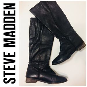 Steve Madden Colaterl Leather Tall Boots