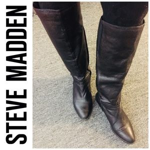 Steve Madden Shoes - Steve Madden Colaterl Leather Tall Boots