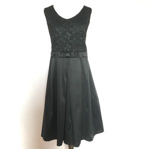 Lace and Satin A-Line Party Dress
