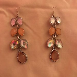 Jewelry - NWT Crystal And Stones Earrings