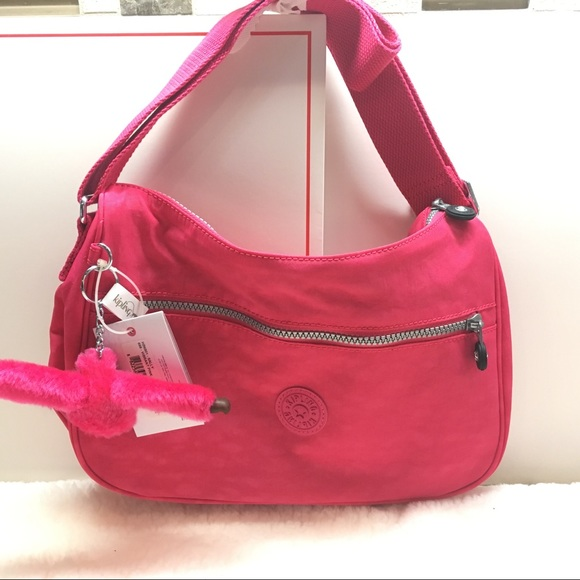 Kipling Sally shoulder/Crossbody Vibrant Pink NEW