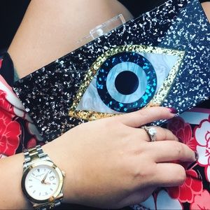 Handbags - Evil eye clutch