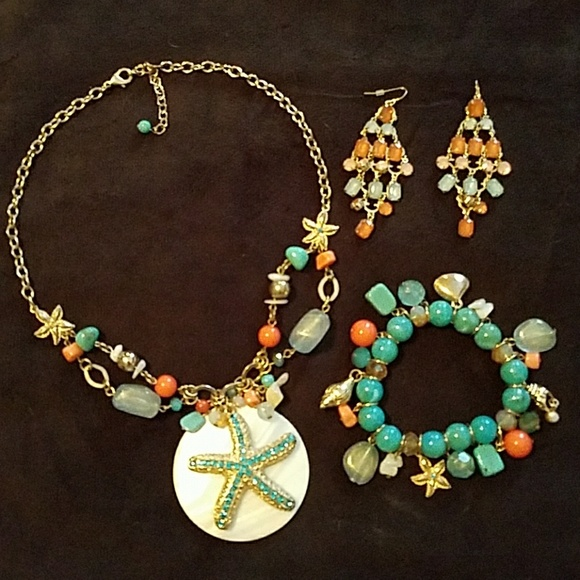 Charming Charlie Jewelry 3 Pc Set Charming Charlies Beach Poshmark