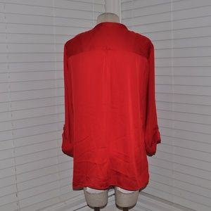 b055823009f Avenue Tops | New Red Satin Tunic Blouse Nwt A6 | Poshmark